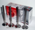 Т-образные облегченные клапана (выпуск, 4 шт.) AMP (Азот.) Ланос 1,5 л.(Lanos), Nexia 1,5 и др. с двигателями FAM I