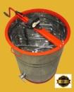 Медогонка Euro2 с поворотом кассет 2-х рамочная нержавеющая с обручем