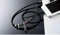 Usb Кабель ожерелье Пандора Для iPhone Эйффелевая башня Зарядка Для IPad И IPhone 5, 6, 7 Remax Jewellery RC-058i