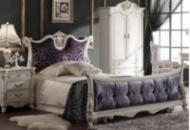 Спальня классическая белая. Коллекция Daming 16 серия