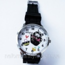 Кварцевые женские часы «сумочка» черный силиконовый браслет.