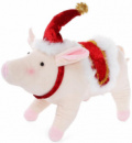 Новогодняя мягкая игрушка «Свинка» 38х14х26см