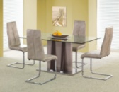 Стол со стеклянной столешницей «HELIOS + K142»