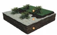 Геотекстиль для  высевных газонов, цветников и альпийских горок