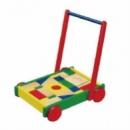 Ходунки-каталка Viga Toys «Тележка с кубиками» (50306)