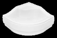 Душевой полукруглый акриловый поддон OLIVER-1 80х80х30 BESCO PMD с высоким сидением