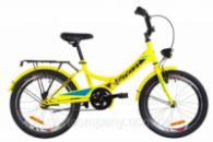 Велосипед 20« Formula SMART 14G St с багажником зад St, с крылом St, с фонарём 2019 (желтый)