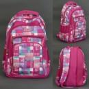Рюкзак школьный для девочки «Клетка»
