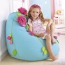 Кресло-мешок с цветами из велюра