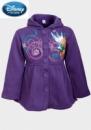 Пальто с капюшоном весна-осень для девочек Дисней фиолетовое, бренд «Disney»