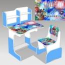 Парта шкільна «Біблейд» 037 біло - голуба + 1 крісло (ціна зі знижкою)