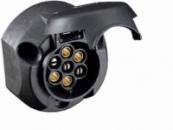 12-10-00-0001 Розетка 12V 7 pin (легковая) пластик (MEGA)