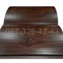Сайдинг металлический 067-339-42-43 под бревно, брус Темный Дуб (шир. 0,35 м)