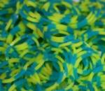 Резинки для плетения Loom Bands, сине-желтые четвертинки 200 шт.