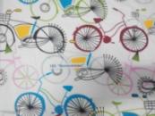 Ткань поликоттон «Велосипеды»
