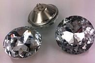 Стеклянные пуговицы , огранка «Алмазная Роза» 30мм
