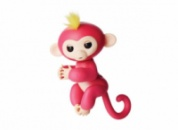 Ручная обезьянка на бат. Happy Monkey интерактивная (розовый)