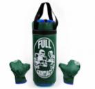 Детский боксерский набор (перчатки+мешок) FULL CONTACT 4675-G зеленый