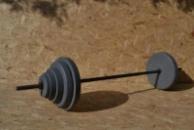 Штанга 77,5 кг с грифом не хромированный блины гранилит