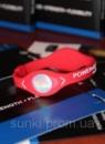 Силиконовый энергетический браслет с голограммой Power Balance красного цвета
