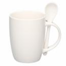 Чашка белая с ложкой Киев