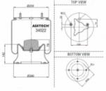 Пневморессора м/ст (пр-во Airtech )SAF,44022 К ,4022NP03, 34022C, 3229002900, 2618V
