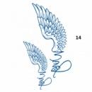 14-6/4 Временная татуировка/Татуировка Крылья/ водонепроницаемая татуировка/ наклейки Body Art