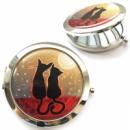 Карманное зеркало «Котики на закате»
