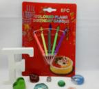Свечи на торт с разноцветными огоньками