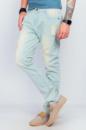 Мужские джинсы потертые, голубые Светло-голубой