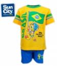 Набор футболка и шорты детские «Чемпионат мира по футболу Бразилия 2014» официальный, бренд «Sun City» (Франция)