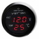 Термометр вольтметр VST 706-5 + USB