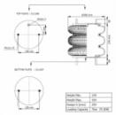 Пневморессора, бублик тройной в сборе (пр-во Airtech) D 310,12'X3 SP12350 /AT,115009,112273,13B310KM