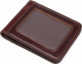 Зажим кожаный Vintage Коричневый (14513)