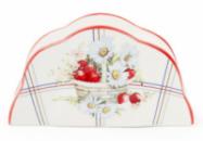 Подставка для салфеток фарфоровая «Земляничная фантазия» 14.5х4х8см (салфетница)