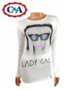 Реглан для девочки Lady Gaga (Леди Гага), с длинным рукавом, бренд «C&A»
