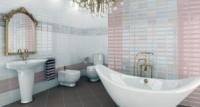 Керамическая плитка для ванной ELFOS Vogue 25х36,5. Фотографии интерьера.