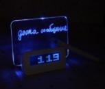 LED настольные часы доска для сообщений новинка