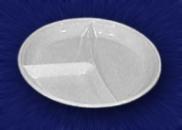 Тарелка 205 мм 3-секц белая
