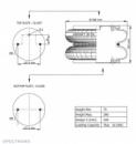 Пневморессора, бублик двойной в сборе (пр-во Airtech) D 301 ,0220021900,81436010022