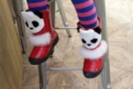 Детские зимние сапожки «Панда»