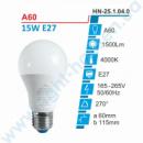 Лампа E27 15W, 4000К, А60 Right hausen