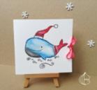 Новогодняя открытка ручной работы кит