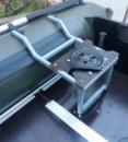 Опора для кресла в лодку ПВХ (съемная, складная) с поворотной пластиной