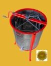 Медогонка Euro4 с поворотом кассет 4-х рамочная нержавеющая РКН с обручем и подставкой