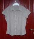 Рубашка на девочку 7-9 лет (смотр. замеры). United Colors of Benetton. В коричневую клеточку. ЦЕНА: 50 грн.