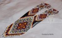 Гердан «Едельвейс» - виготовлений з високоякісного чеського бісеру. Ексклюзивний дизайн від Руслани Назаревич