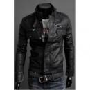 Мужская кожанная куртка осень - весна, искусственная кожа, воротник стойка, куртка мужская кожа, чоловіча куртка