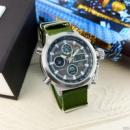 Часы наручные AMST 3003 Silver-Black Green Wristband
