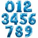 Цифры из фольги (синие)
